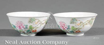 Pair of Chinese Famille Rose Porcelain Bowls, Guangxu mark and probably period (1875-1908),