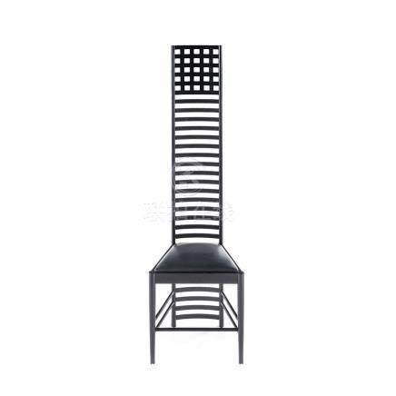 A REPRODUCTION HILLHOUSE CHAIR DESIGNED IN 1902 BY CHARLES RENNIE MACKINTOSH FOR CASSINA the