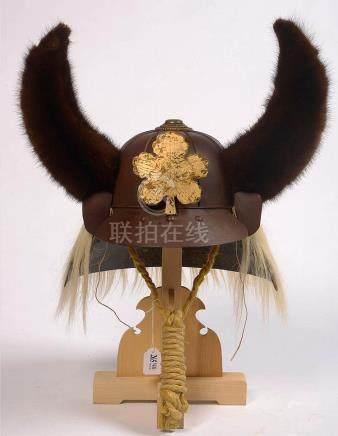 """""""Kabuto akodanari"""" casque de samouraï au timbre composé de h"""