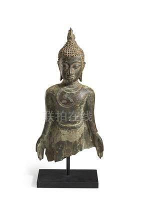 Halbfigur eines Buddhas, Thailand, Sukho-thai, 14. Jh. Eise