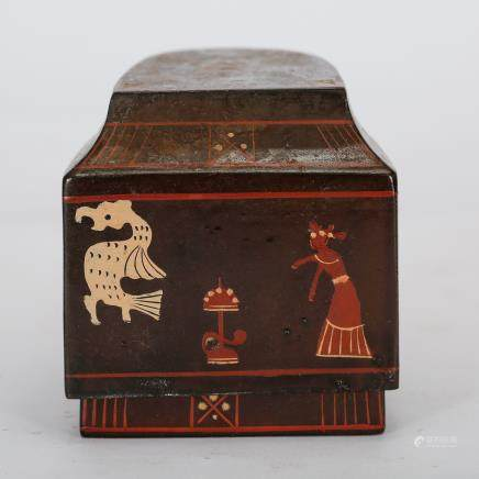 CHINESE LACQUER WOOD COVER BOX