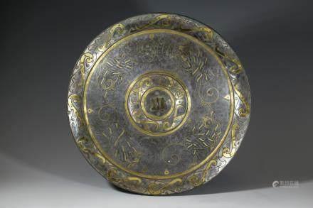 戰國 錯金銀銅鏡