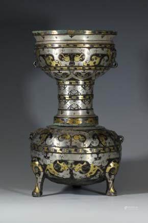 漢 錯金銀蒸鍋