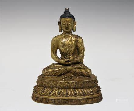 清中期 鎏金藥師佛像