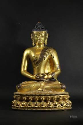 明 宣德年制銅鎏釋迦摩尼佛