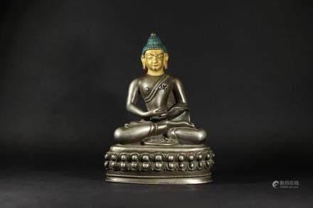 清 銀製阿彌陀佛(帶2012拍賣紀錄)