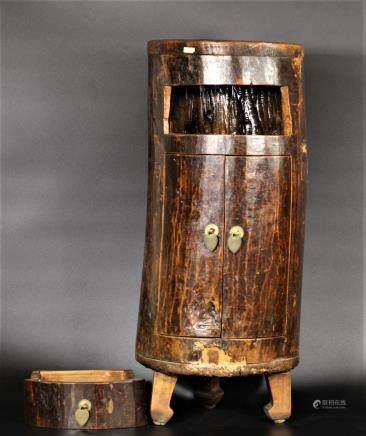 清代 兩門桶柜(榆木)