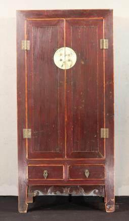 清代 大黍方角柜(榆木)