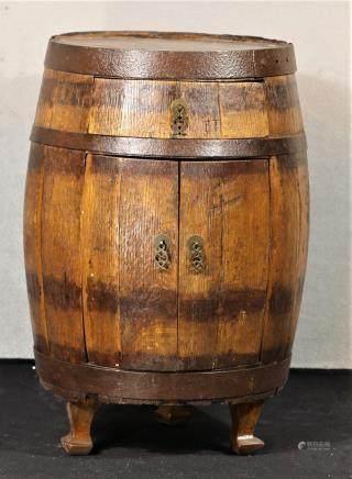 民國 雙門桶柜(橡木)