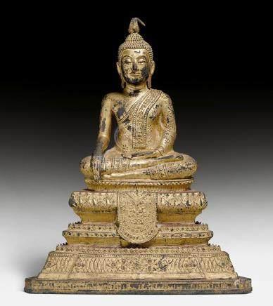 KLEINER SITZENDER BUDDHA.