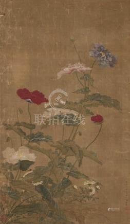 蒋溥花卉图(绢本)
