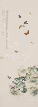 雷腾龙花蝶图