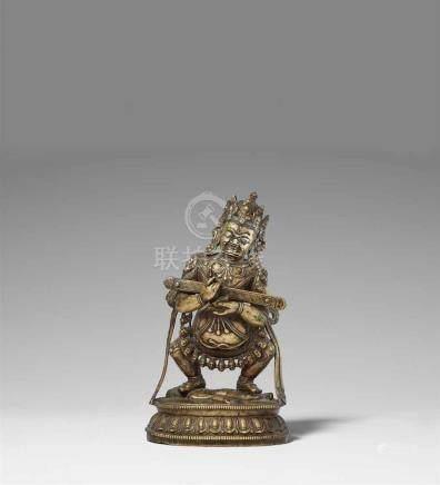 Mahakala Panjara. Bronze, mit silbereingelegten Augen. Tibet. 15./16. Jh. Der zwergenhafte
