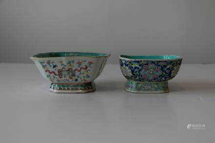 A chinese famille rose square bowl