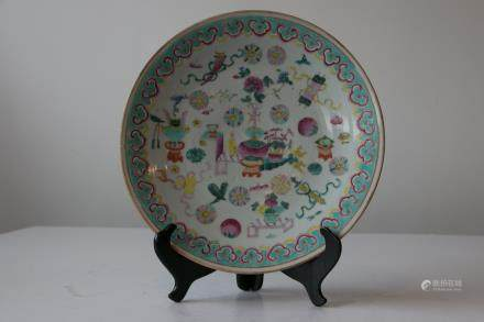 A chinese famille rose plate