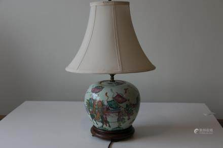 A chinese famille rose lamp