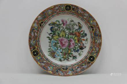 A chinese 19th guang color porcelain plate