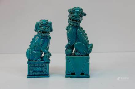 A pair of chinese porcelain statues