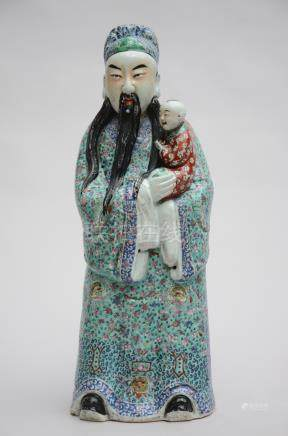 Sculpture of a priest in Chinese porcelain (*) (58cm)