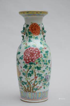 A vase in Chinese porcelain 'flowers' (61cm)