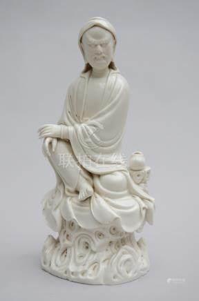 Statue in blanc de Chine 'arhat' (49cm)