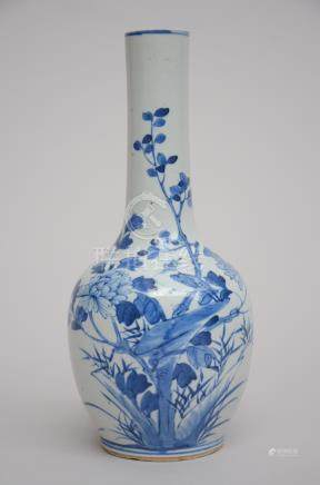 Vase in Chinese blue and white porcelain 'Birds' (29cm)