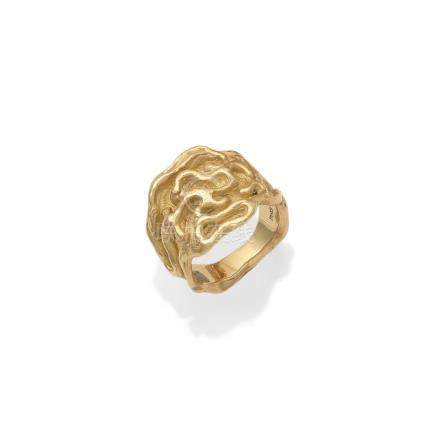 An 18 carat gold ring, by de Vroomen,
