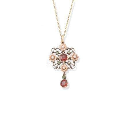 A gem-set pendant, by Child & Child, (2)