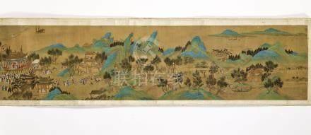 SIGNATURE DE QIU YING (CHINE, DYNASTIE QING, 1644-1911)
