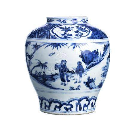 Pot in Chinese porcelain, Transicional