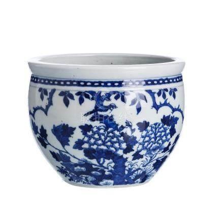 Cachepot in Chinese porcelain, Guangxu