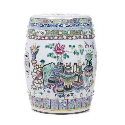 China porcelain stool, Tonghzi