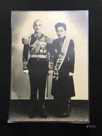 A Chinese Old Photo,Chiang,Kai-Shek and Soong May-