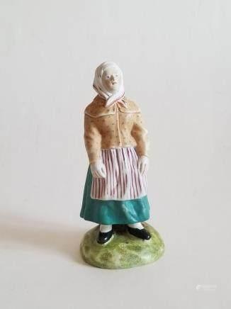 19C Russian Porcelain Gardner Figurine