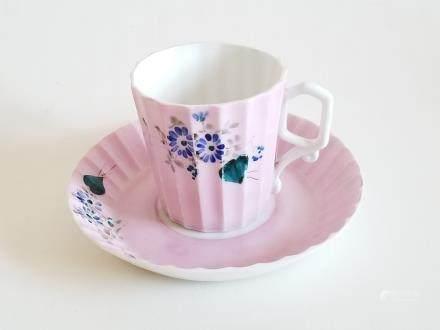 Antique Russian Porcelain Cup & Saucer Kuznetsov