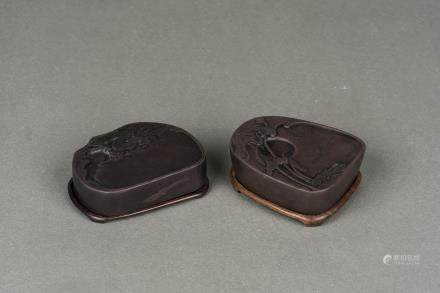 TWO 'DUAN' INK STONES, 19/ 20TH CENTURY