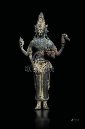 A bronze standing figure of Padmapani, Nepal, 13th-14th