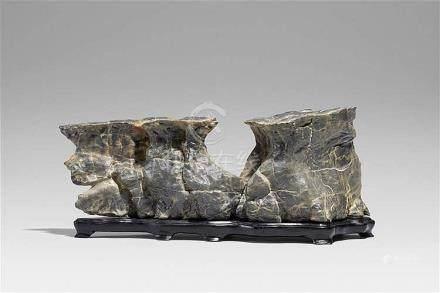 A grey limestone scholar's rock
