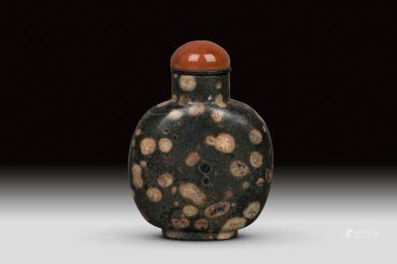 A PUDDING STONE SNUFF BOTTLE, QING DYNASTY