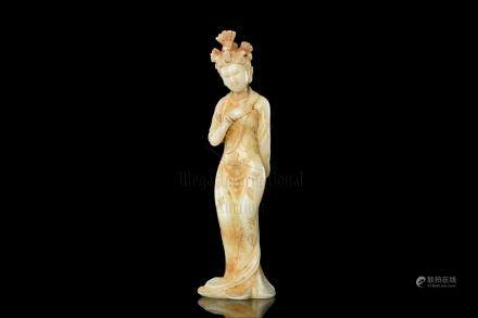 JADE CARVED 'LADY' FIGURE