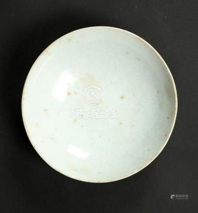 Chinese Art A white glazed red earthenware shallow bowl Chin