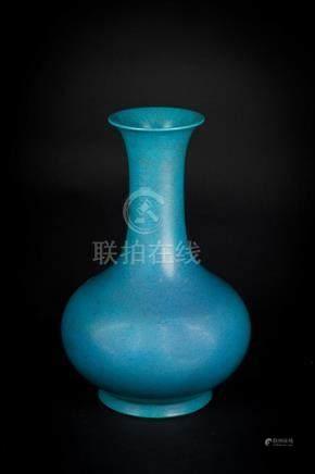 Chinese Art A Robin Egg glazed bottle vase China, 20th centu