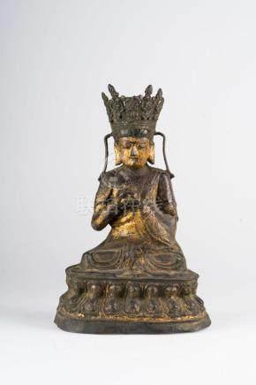 Chinese Art A bronze figure of Vairochana China, Ming dynast