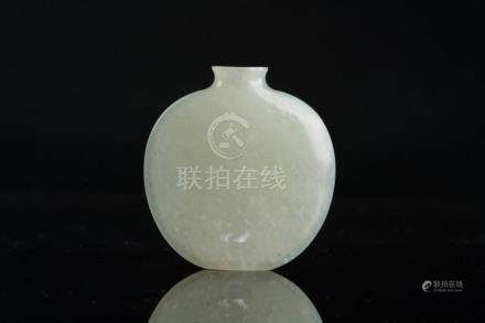 Chinese Art A flat jade snuff bottle China, 19th century