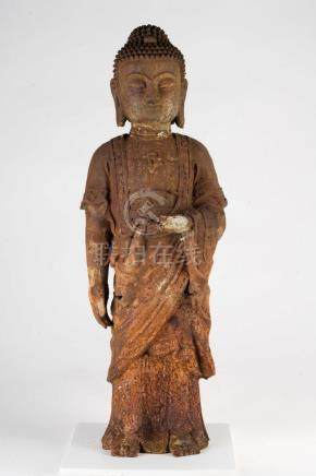 Chinese Art An iron figure of standing Buddha China, 20th ce