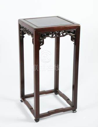 Chinese Art A hard wood gueridon stand China, Qing dynasty,