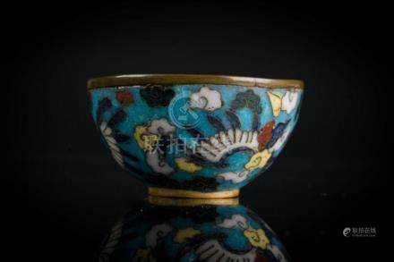 Chinese Art A small cloisonnè bowl China, Ming dynasty