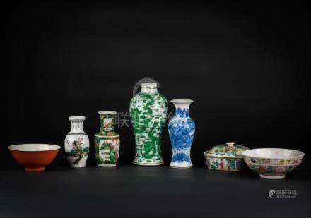 Chinese Art Seven items of various period and attributions C