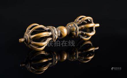 Himalayan Art A large bronze vajra Tibet, 19th century