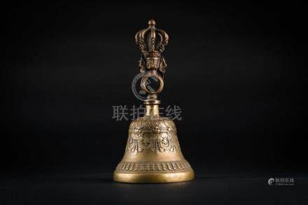 Himalayan Art A large Ghanta bronze bell Tibet, 19th - 20th
